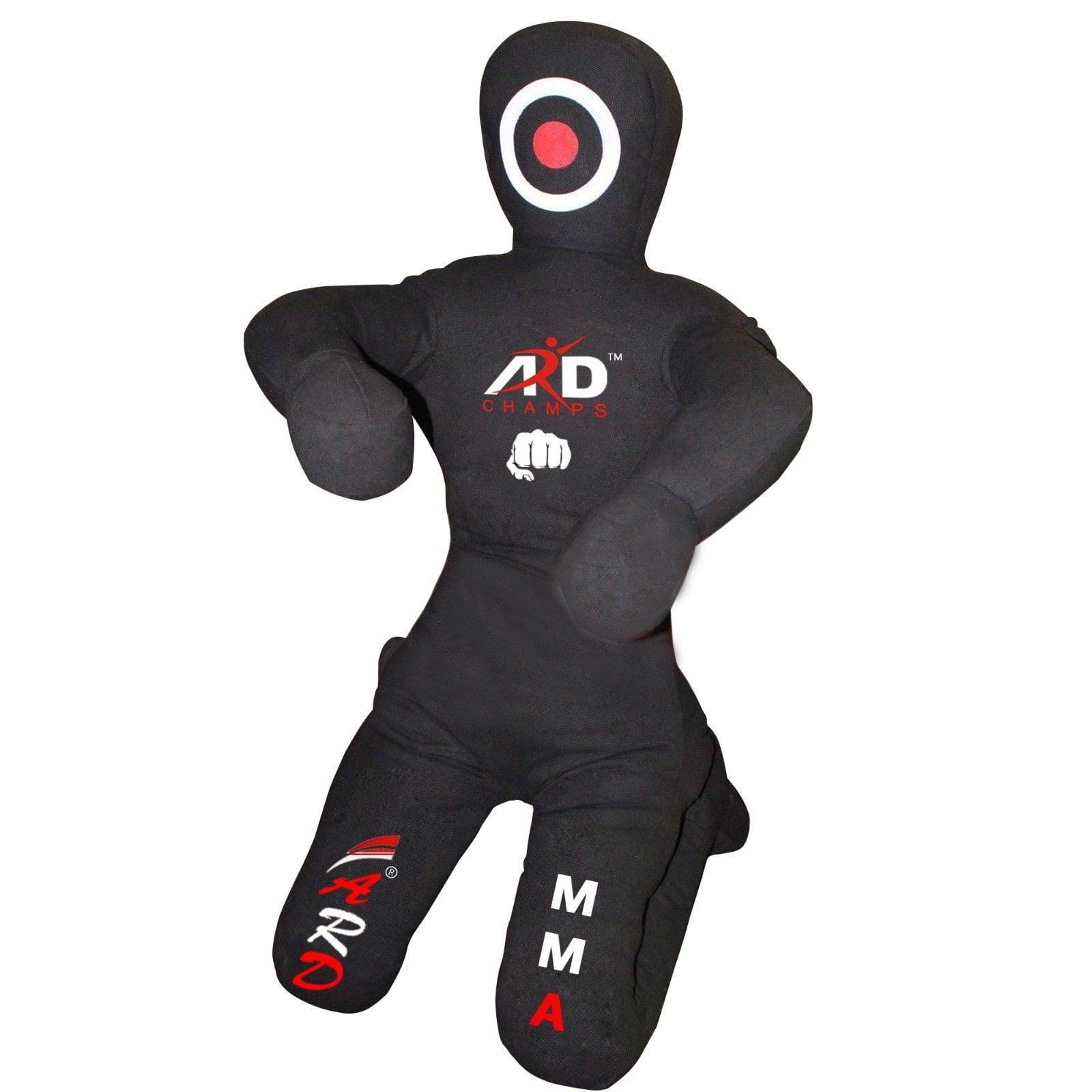 ARD CHAMPS Brazilian Jiu Jitsu Grappling Canvas Kneeling Dummy MMA Boxing Wrestling, Color Black, Size 6'Feet by