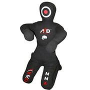 ARD CHAMPS™ Brazilian Jiu Jitsu Grappling Canvas Kneeling Dummy MMA Boxing Wrestling, Color Black, Size 6'Feet