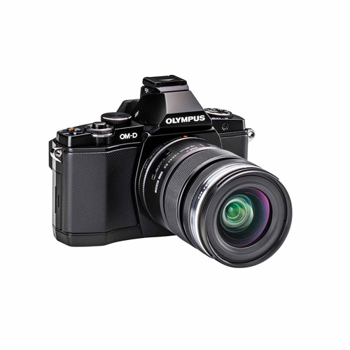 "Olympus OM-D E-M5 16.1 Megapixel Mirrorless Camera (Body with Lens Kit) 12 mm 50 mm Black 3"" Touchscreen... by Olympus"