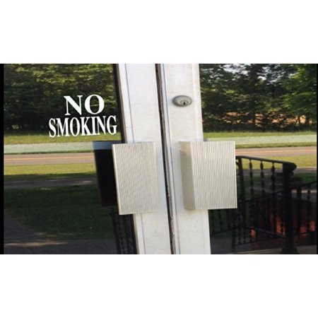 No Smoking signs sticker decal business door 8 inch *E202* vinyl store dog cat