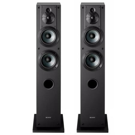 Sony SSCS3 Stereo Floor-Standing Speaker Pair Bundle (Black) ()