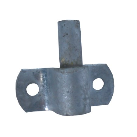 Image of Wood Fence Post Chain Link Gate Hinge With 5/8 Hinge Pin. Constructed of Heavy Duty Galvanized Steel. Horizontal Mount.