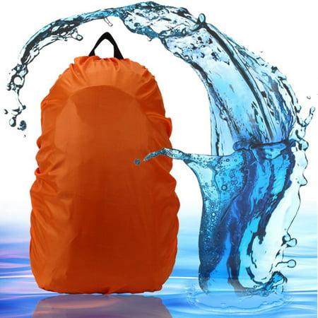 iClover Rain Cover 30L-40L Water Resistant Backpack Bag Cover for Outdoor Activities,Adjustable Elastic Rucksack Waterproof Cover(Orange)