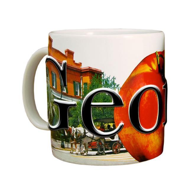 Americaware SMGEO01 Georgia 18 oz Full Color Relief Mug
