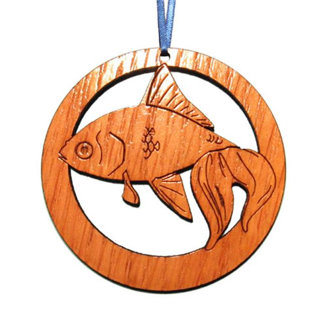 CAMIC designs WC001N Laser-Etched Goldfish Ornaments - Set of 6