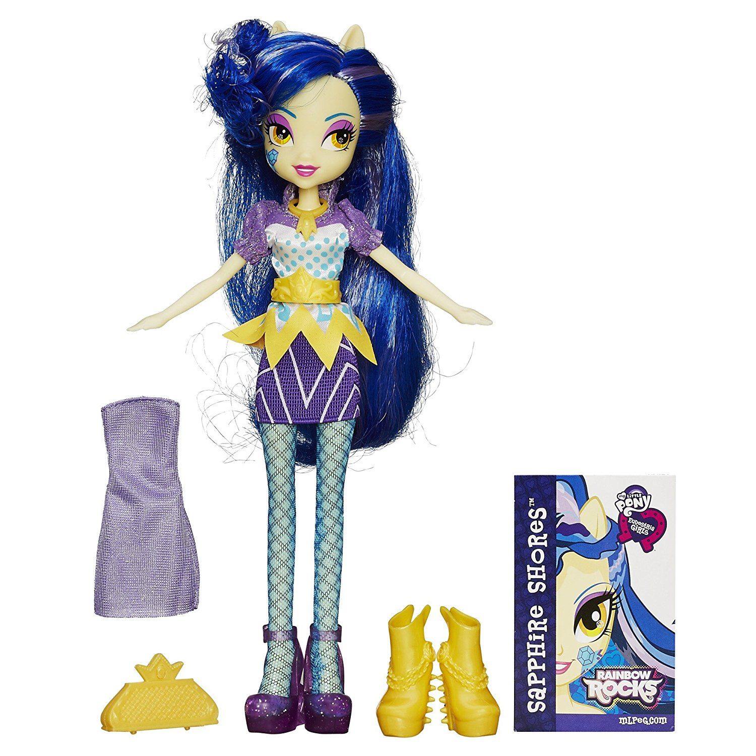 Equestria Girls Rainbow Rocks Sapphire Shores Doll with Fashions, Equestria Girls doll is a rockin' concert girl By My Little Pony