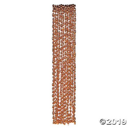Orange Football Bead Necklaces](Football Bead Necklace)