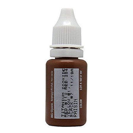15ml MICROBLADING BioTouch RAISIN Cosmetic Pigment Color Tattoo Ink LARGE Bottle pigment professionally tested permanent makeup supplies Eyebrow Lip Eyeliner microblading supplies pigment Cats Eye Pigment Ink