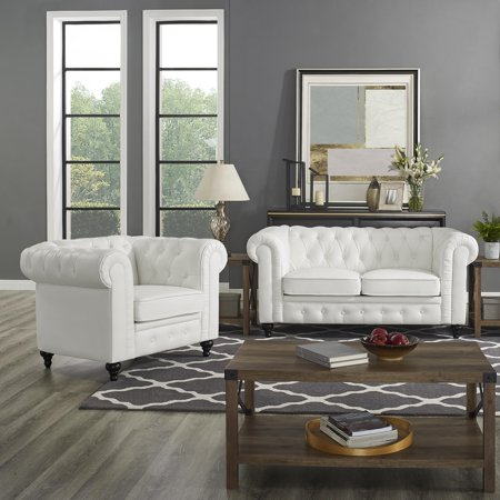 Super Naomi Home Emery Chesterfield Love Seat Accent Chair Color Pdpeps Interior Chair Design Pdpepsorg