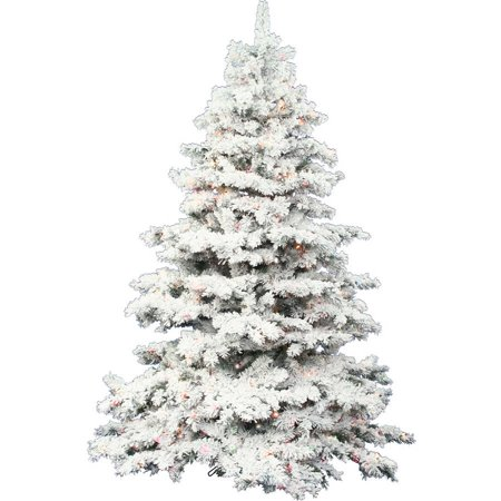 Vickerman Pre-Lit 3' Flocked Alaskan Artificial Christmas Tree, LED,  Multicolor Lights - Walmart.com - Vickerman Pre-Lit 3' Flocked Alaskan Artificial Christmas Tree, LED