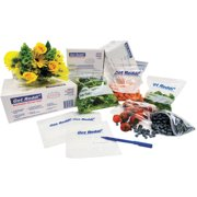 Inteplast Group Get Reddi Pinch & Seal Zipper Food Storage Bags, 22 Quart, 500 Ct