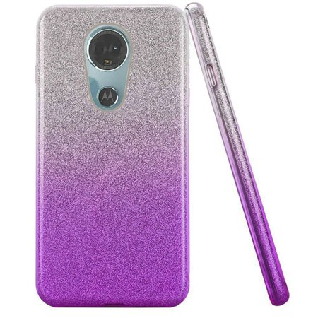665879e77aff Motorola Moto E5 Plus case Moto E5 Supra case by HR Wireless Two Tone Hard  Glitter TPU Cover Case for Motorola Moto E5 Plus   Moto E5 Supra - Purple  ...