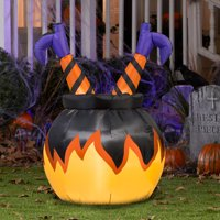 Airblown Inflatables Witch Legs in Cauldron Airblown Decor Deals