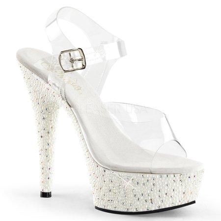 Pearlize-608, 6'' Heel 1 3/4''  Slide - Pleaser Shoe