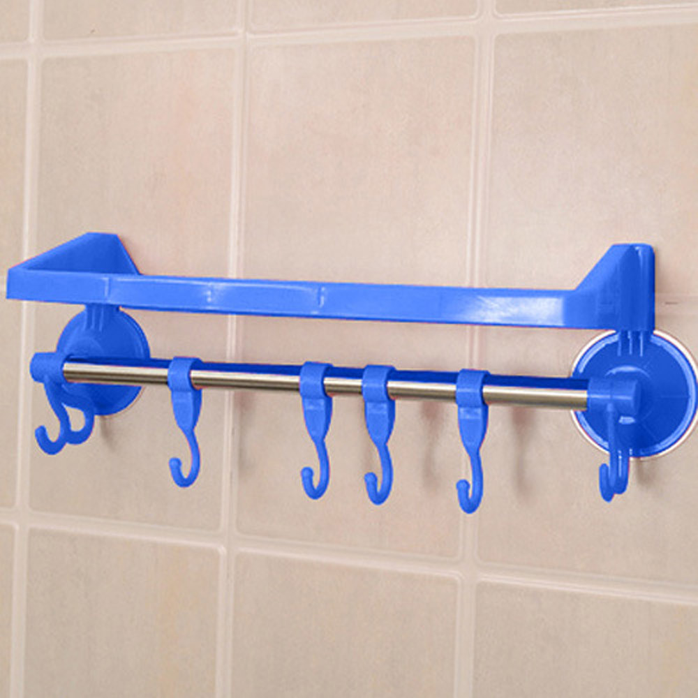 Bathroom Sucker Shelf Shower Corner Storage Caddy Holder Rack Hook Organizer New