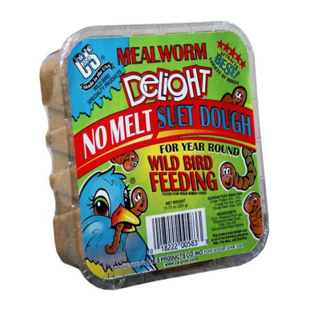 Suet Treat - (6 Pack) C&S Meal Worm Delight Suet