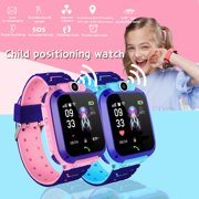 Waterproof 400mAh Anti-lost Smart Watch Kids Wristwatch Touch Screen GPRS Locator Tracking Anti-Lost SOS Call (Blue & Pink)