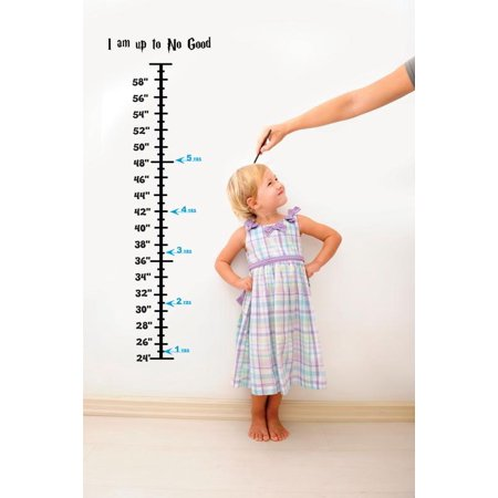 Baby Vinyl Growth Chart Decal Hanging Height Ruler Sticker For