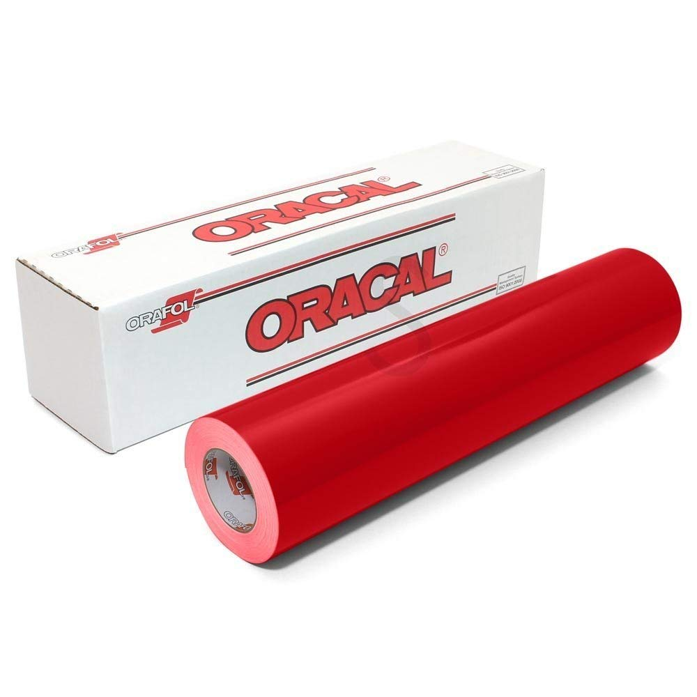 Oracal 651 Glossy Permanent Vinyl 12 Inch x 6 Feet - Red