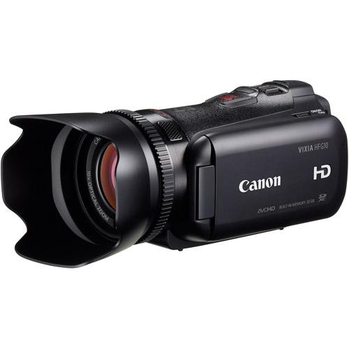 "Canon Vixia HF G10 Black Flash Memory Camcorder w/ 10x Optical Zoom, 3.5"" LCD Display"
