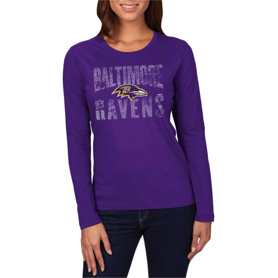 NFL Baltimore Ravens Women's Long Sleeve Crew Neck Tee