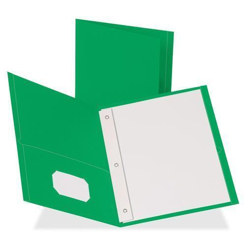 "Business Source Storage Pockets Fastener Folders - Letter - 8 1/2"" x 11"" Sheet Size - 100 Sheet Capacity - 3 x Prong Fastener(s) - 1/2"" Fastener Capacity - 2 Inside Front & Back Pocket(s) - Leatherett"