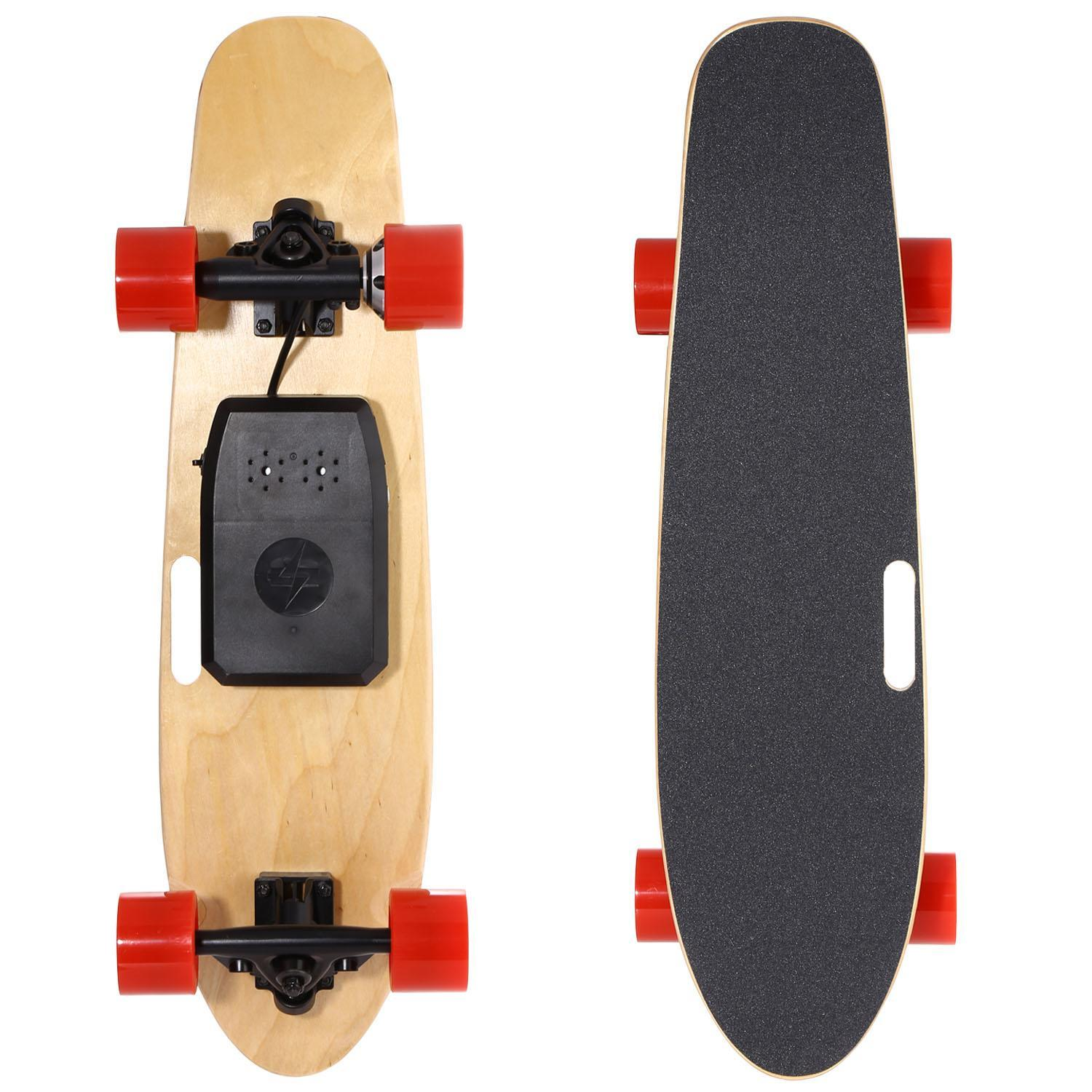 Electric Skateboard Cruiser Longboard wood style with Remote Controller For Adults Youth cbst by