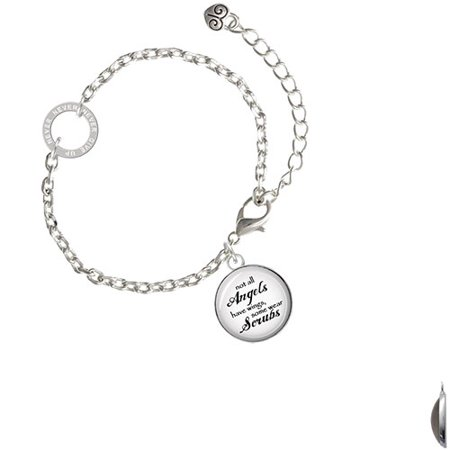Angel Bracelet (Domed Angels Wear Scrubs - Never Give Up Ring Zoe)