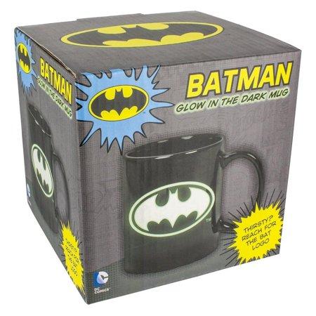 Glow In The Dark Cups Wholesale (DC Comics Glow in the Dark Batman Logo 10oz. Ceramic)