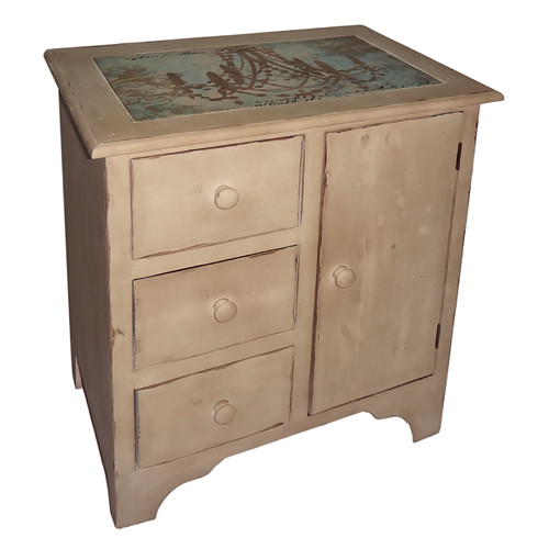 Cheungs 1 Door and 3 Drawer Accent Cabinet