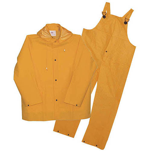 Boss Gloves Yellow 3 Piece Lined PVC Rain Suit