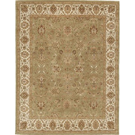 Due Process Stable Trading Rambagh Agra Light Green & Ivory Area Rug, 6 x 9 ft.
