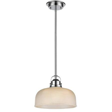 11 in. Lighting Ironclad Industrial-Style 1 Light Chrome Ceiling Mini Pendant - Chrome - image 1 de 1