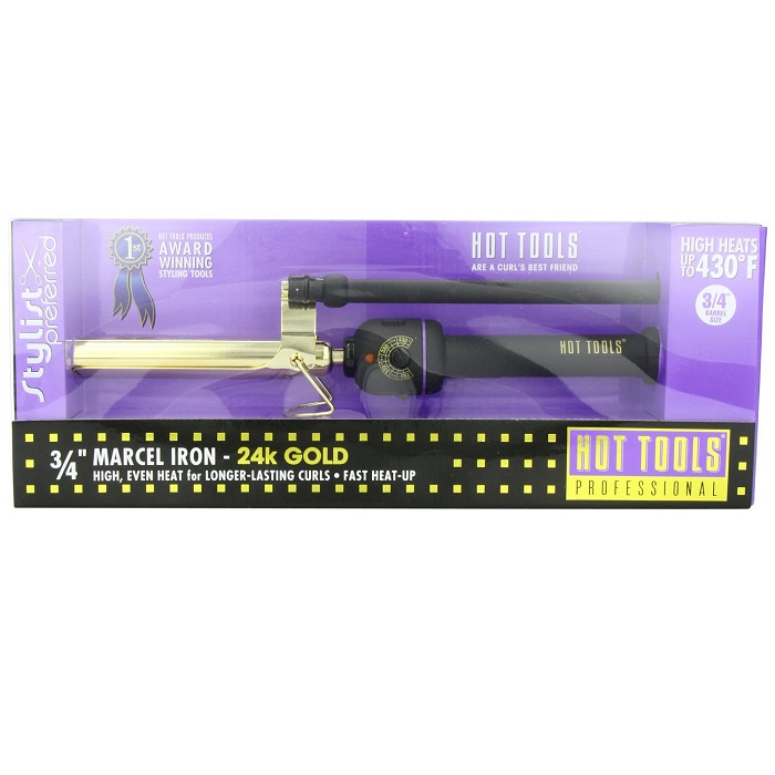 Hot Tools Model 1105 Regular Professional Marcel Curling Iron with Multi Heat Control 3/4""
