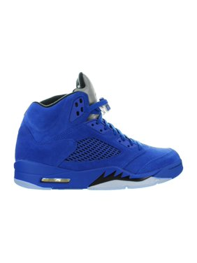 fdde2b3c3de8 Product Image Mens Air Jordan 5 V Retro Blue Suede Game Royal Black  136027-401