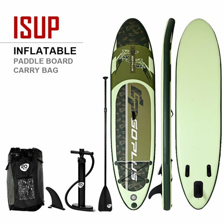 Costway 11' Inflatable Stand up Paddle Board Surfboard SUP W/ Bag Adjustable Paddle - Stand Up Surfboard