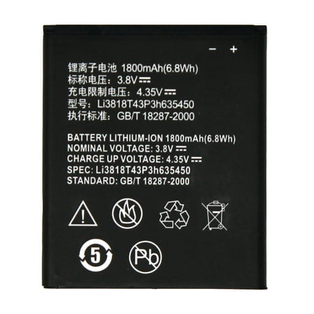 World Star™ Standard Replacement Battery LI3818T43P3H635450 For ZTE Obsidian Z820 1800mAh - Non-Retail Pack with 2-Year Limited (Best Replacement Battery For Ztes)