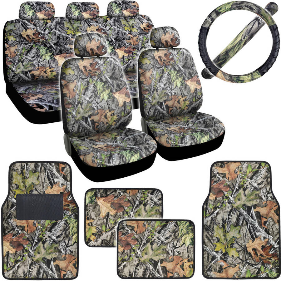 BDK Hawg Camo Car Seat Covers with Floor Mats and Steering Wheel Cover