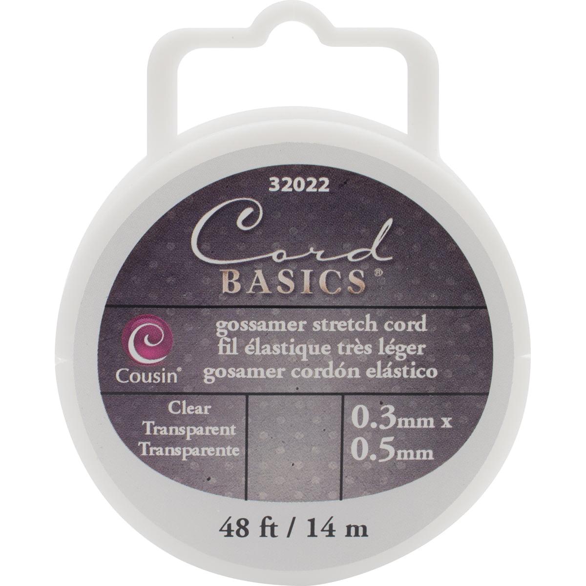 Cord Basics Gossamer Stretch Cord .5mmX48'-Clear