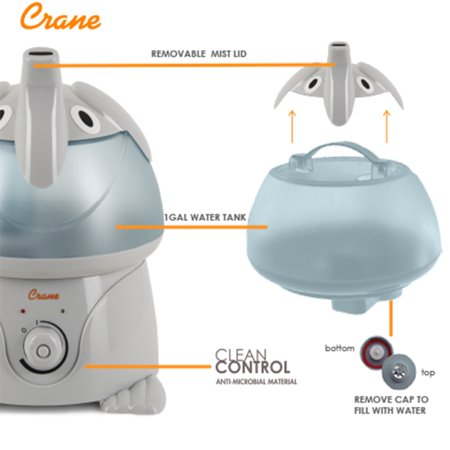 Crane Elephant Adorable Humidifier Ee 3186 Best Baby Care