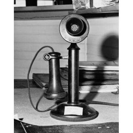 Close-up of a candlestick phone Railroad Museum Cape Cop Massachusetts USA Poster Print