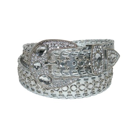 Studded Woven Belt (Women's Western Belt with Rhinestones and Studs )