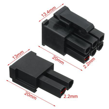 50Pcs 5557 8(6+2) Pin PCI-E ATX EPS Connector & 400 Female Terminals Crimp Plug - image 6 de 7