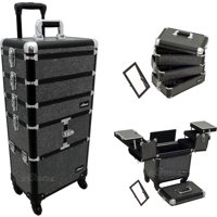 9b62c9e22f Product Image Sunrise Black Krystal Trolley Makeup Case- I3364