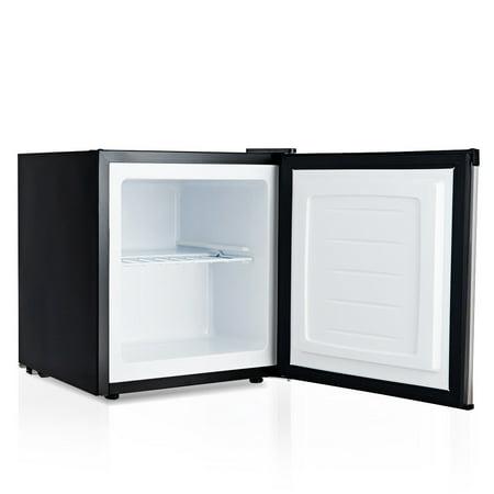 1.1 cu.ft. Compact Mini Upright Freezer Stainless Steel Single Door Home Dorm - image 2 of 10