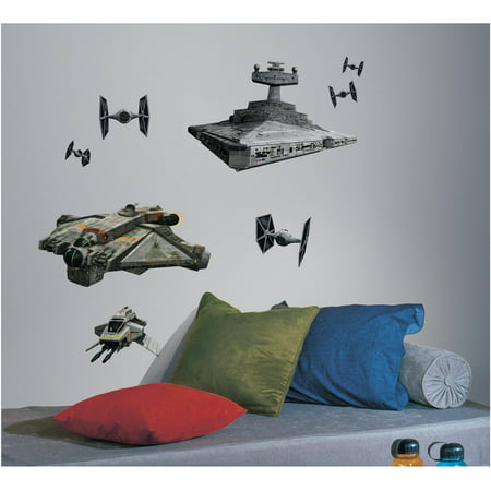 Star Wars Rebel and Imperial Ships Peel and Stick Giant Wall Decals (Star Wars Decal Family)