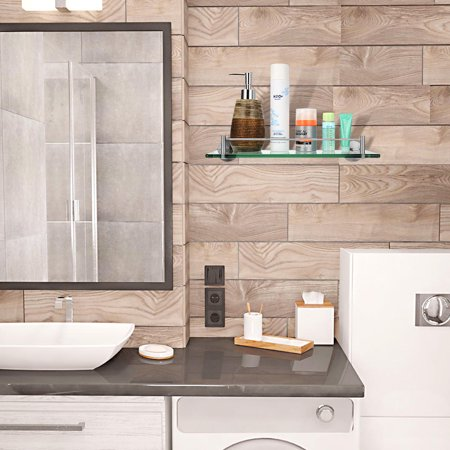 bathroom glass shelf wall mounted 304 stainless steel