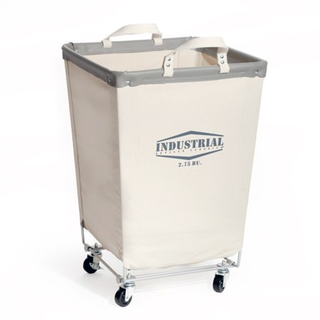 Commercial Heavy-Duty Canvas Laundry Hamper with Wheels by Seville Classics