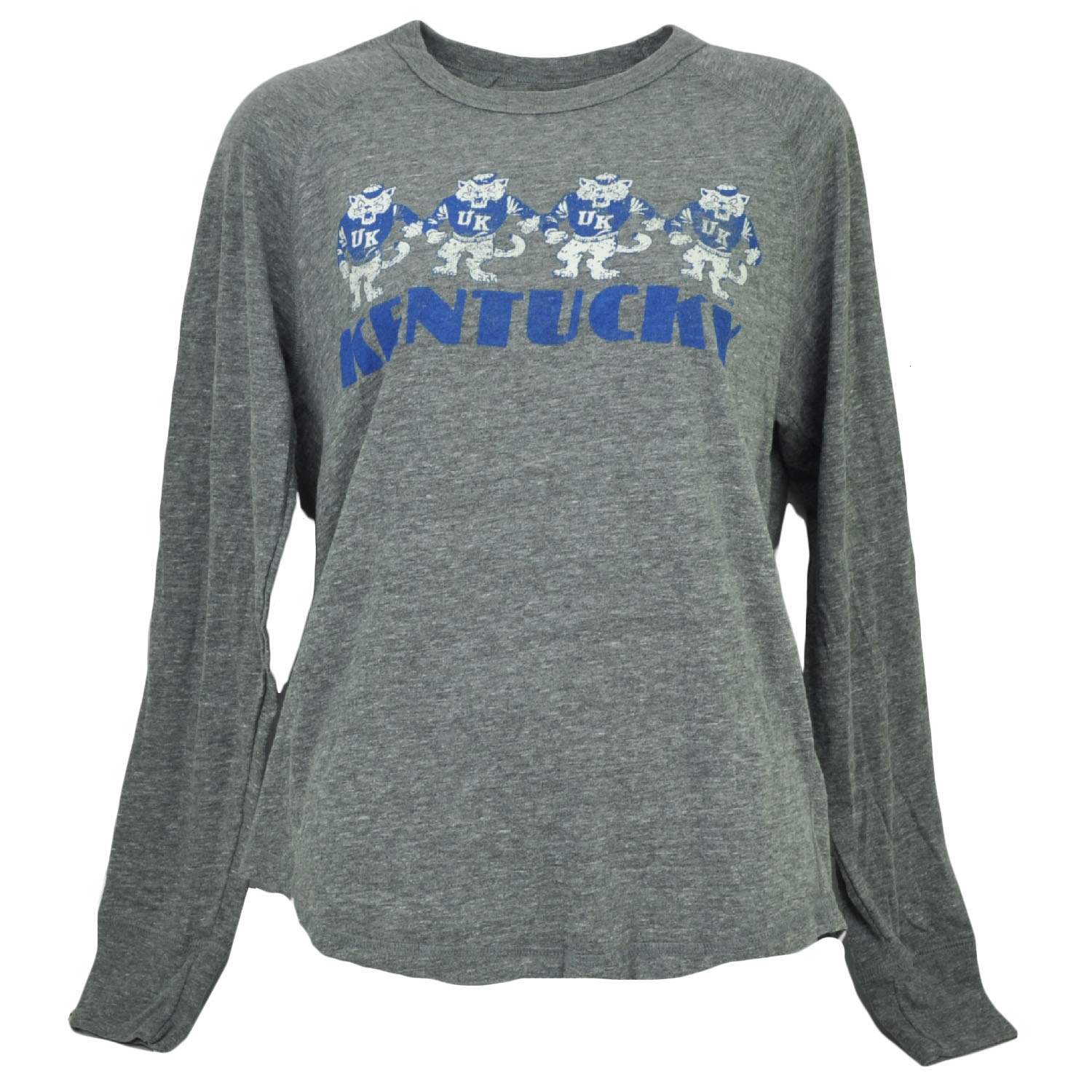 NCAA Kentucky Wildcats Long Sleeve Tshirt Tee Womens Ladies Loose Fit Gray XLarg