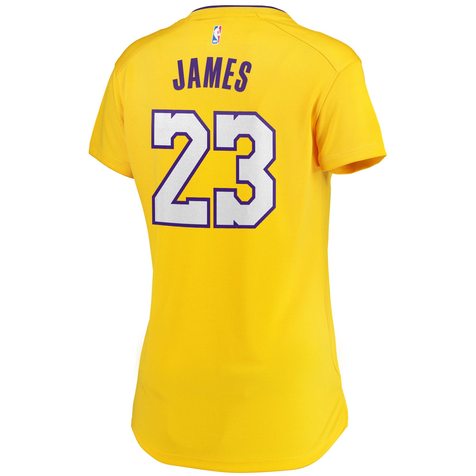 40a829b82 LeBron James Los Angeles Lakers Fanatics Branded Women s 2017 18 Fast Break  Replica Jersey Gold - Icon Edition - Walmart.com